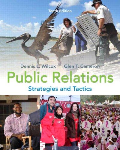 Public Relations: Strategies and Tactics 9780205770885