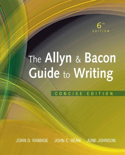 The Allyn & Bacon Guide to Writing 9780205823147
