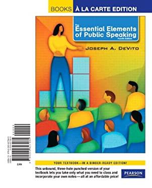 The Essential Elements of Public Speaking 9780205827985
