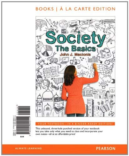 Society: The Basics, Books a la Carte Edition 9780205899111