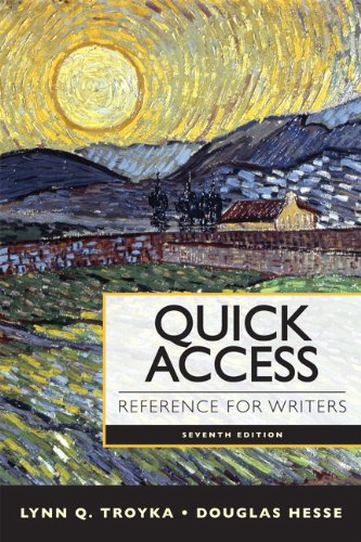 Quick Access Reference for Writers 9780205903610
