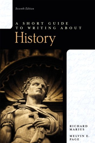 A Short Guide to Writing about History 9780205673704