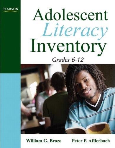 Adolescent Literacy Inventory, Grades 6-12 9780205569991