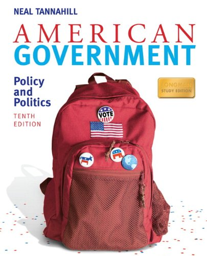 American Government: Policy and Politics: Longman Study 9780205746750