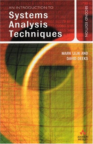 An Introduction to Systems Analysis Techniques 9780201797138