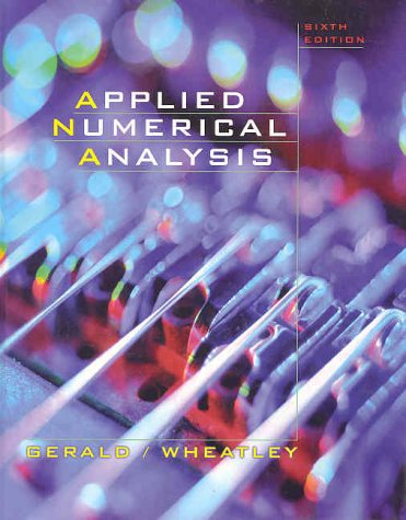 Applied Numerical Analysis 9780201870725