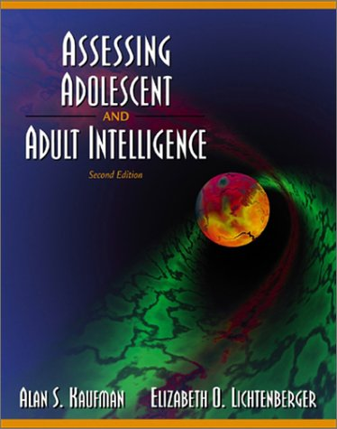 Assessing Adolescent and Adult Intelligence 9780205305278