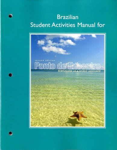 Brazilian Student Activities Manual for Ponto de Encontro: Portuguese as a World Language 9780205783465