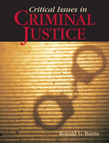 Critical Issues in Criminal Justice 9780205553747