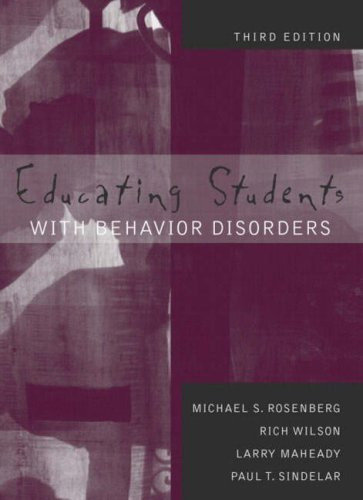 Educating Students with Behavior Disorders 9780205340750