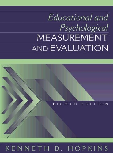 Educational and Psychological Measurement and Evaluation 9780205160877