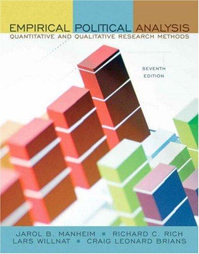 Empirical Political Analysis: Quantitative and Qualitative Research Methods 9780205576401