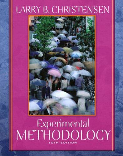 Experimental Methodology 9780205484737