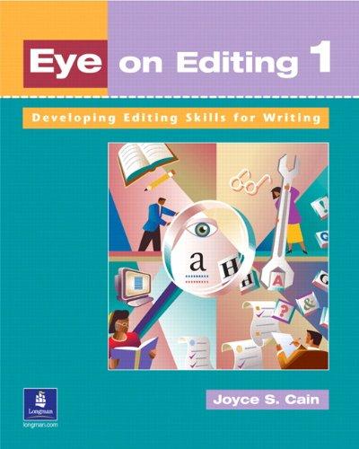 Eye on Editing 1: Developing Editing Skills for Writing 9780201621327