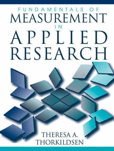 Fundamentals of Measurement in Applied Research 9780205380664