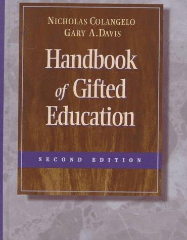 Handbook of Gifted Education 9780205260850