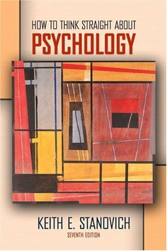 How to Think Straight about Psychology 9780205360932