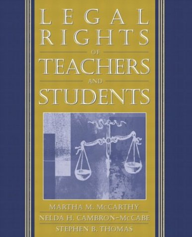 Legal Rights of Teachers and Students 9780205354498