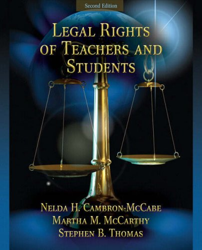 Legal Rights of Teachers and Students 9780205579365
