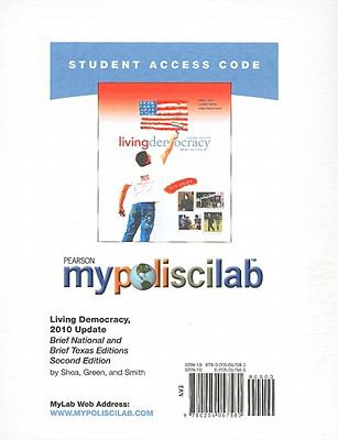 Living Democracy Student Access Code Card: Brief National and Brief Texas Editions