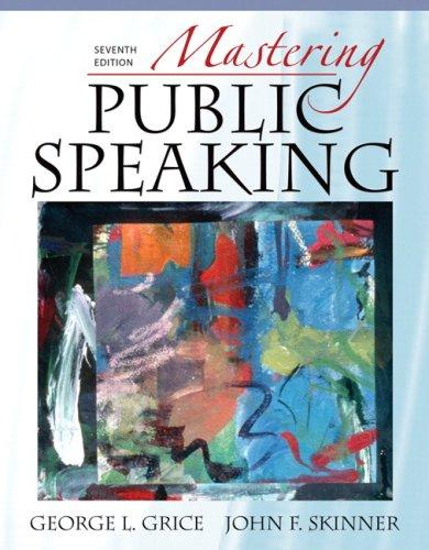 Mastering Public Speaking 9780205593361