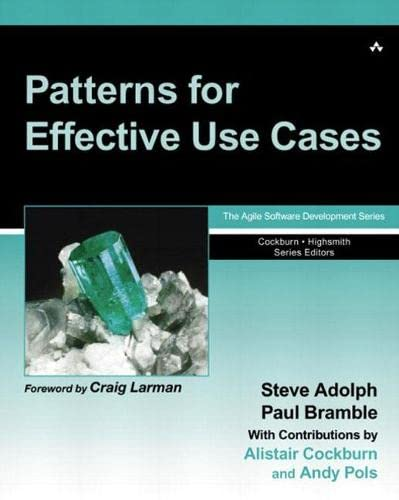 Patterns for Effective Use Cases 9780201721843