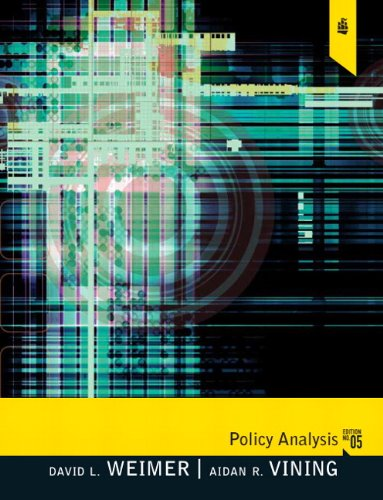 Policy Analysis: Concepts and Practice 9780205781300