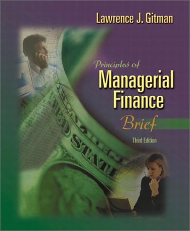 Principles of Managerial Finance, Brief 9780201784800