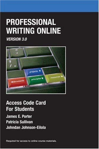 Professional Writing Online, Version 3.0 9780205652129