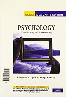 Psychology: From Inquiry to Understanding 9780205762262