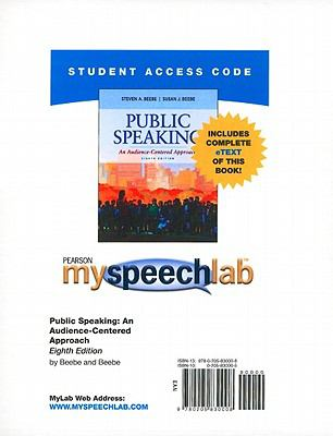 Public Speaking: An Audience-Centered Approach 9780205830008