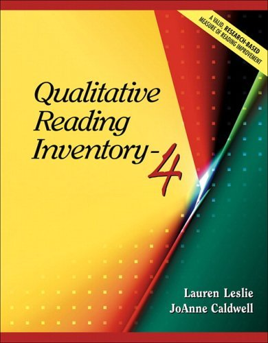 Qualitative Reading Inventory-4 9780205443277