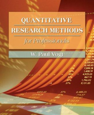 Quantitative Research Methods for Professionals 9780205359134