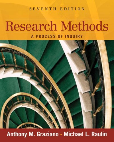 Research Methods: A Process of Inquiry 9780205634026