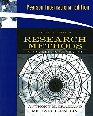 Research Methods: A Process of Inquiry. Anthony M. Graziano, Michael L. Raulin 9780205637454