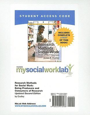 Research Methods for Social Work: Being Producers and Consumers of Research 9780205013968