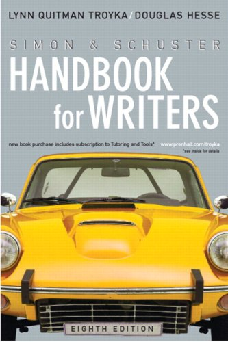Simon & Schuster Handbook for Writers [With Mycomplab] 9780205656325