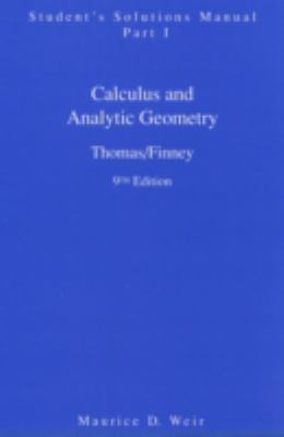 Student Solutions Manual Part 1 for Calculus 9780201531794