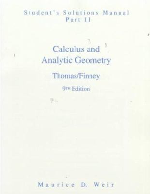 Student Solutions Manual Part 2 for Calculus 9780201531800