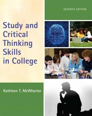 Study and Critical Thinking Skills in College 9780205734801