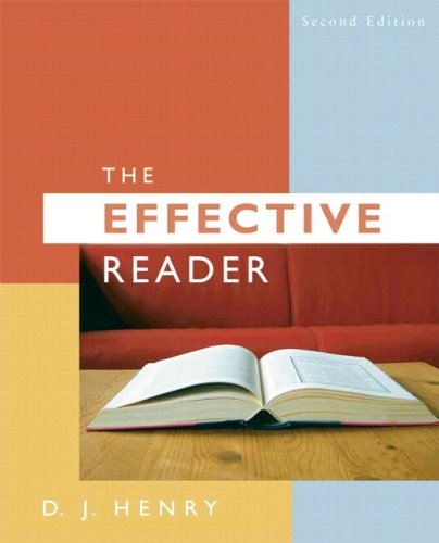 The Effective Reader [With Myreadinglab] 9780205727919