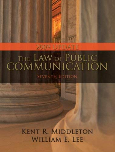 The Law of Public Communication, 2009 Update 9780205570041