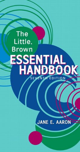 The Little, Brown Essential Handbook 9780205718764