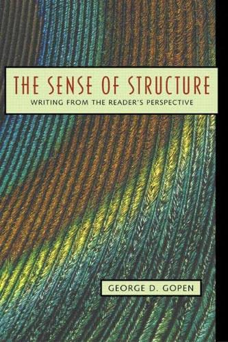 The Sense of Structure: Writing from the Reader's Perspective 9780205296323