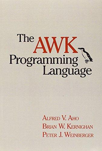 The awk Programming Language 9780201079814
