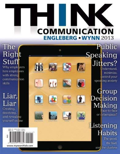 Think Communication 9780205110384