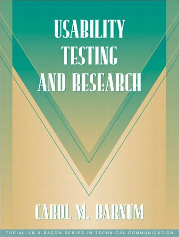 Usability Testing and Research (Part of the Allyn & Bacon Series in Technical Communication) 9780205315192