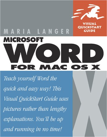 Word for Mac OS X 9780201758436
