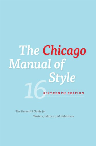 The Chicago Manual of Style 9780226104201