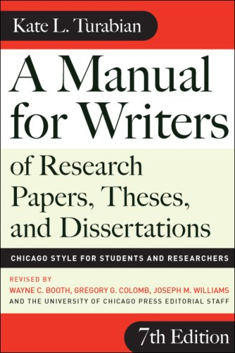 A Manual for Writers of Research Papers, Theses, and Dissertations: Chicago Style for Students and Researchers 9780226823379